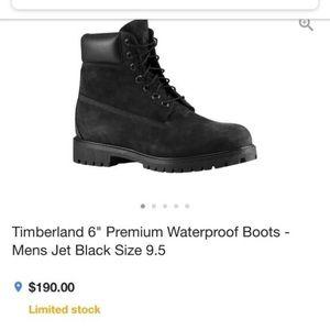 "Timberlands 6"" Premium Waterproof Boots Mens 8"
